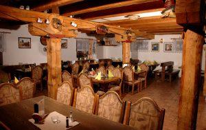 Restaurace pro ubytované penzionu.