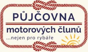 Stačí jen najít naše logo a parádně se povozíte na Lipně. Půjčovna motorových člunů je v provozu od jara do podzimu.