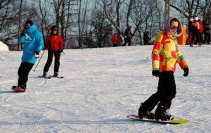 Lyžování v Hochfichtu, ve skiareálu Lipno - zima je u nás naprosto skvělá.