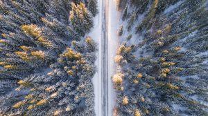 Část silnice na Hochficht ještě voní novotou.